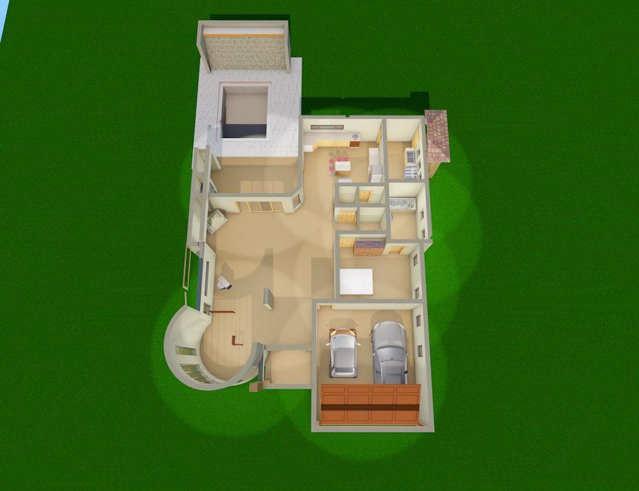 4 bedroom modern style tdp750ch sa houseplans for Sa house plans