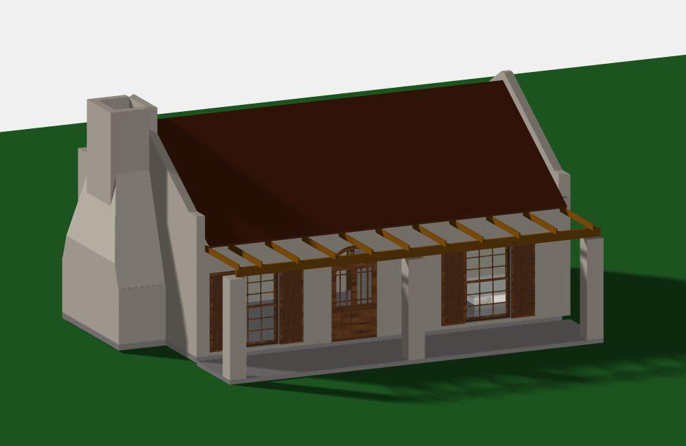 Spacious 2 bedroom cottage jdp833cd sa houseplans for Sa home plans