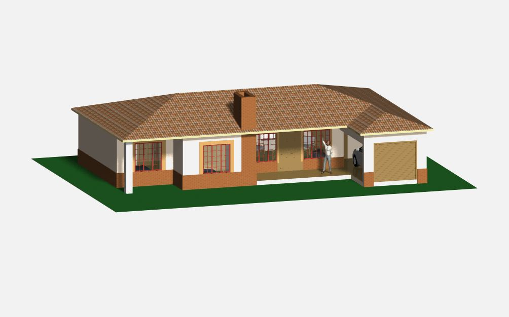 3 bedroom townhouse plan jdp841th sa houseplans for Townhouse layout 3 bedrooms