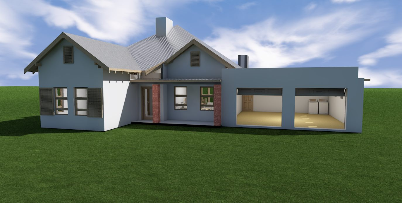Budget townhouse 3 bedroom jdp302th sa houseplans for Sa home designs