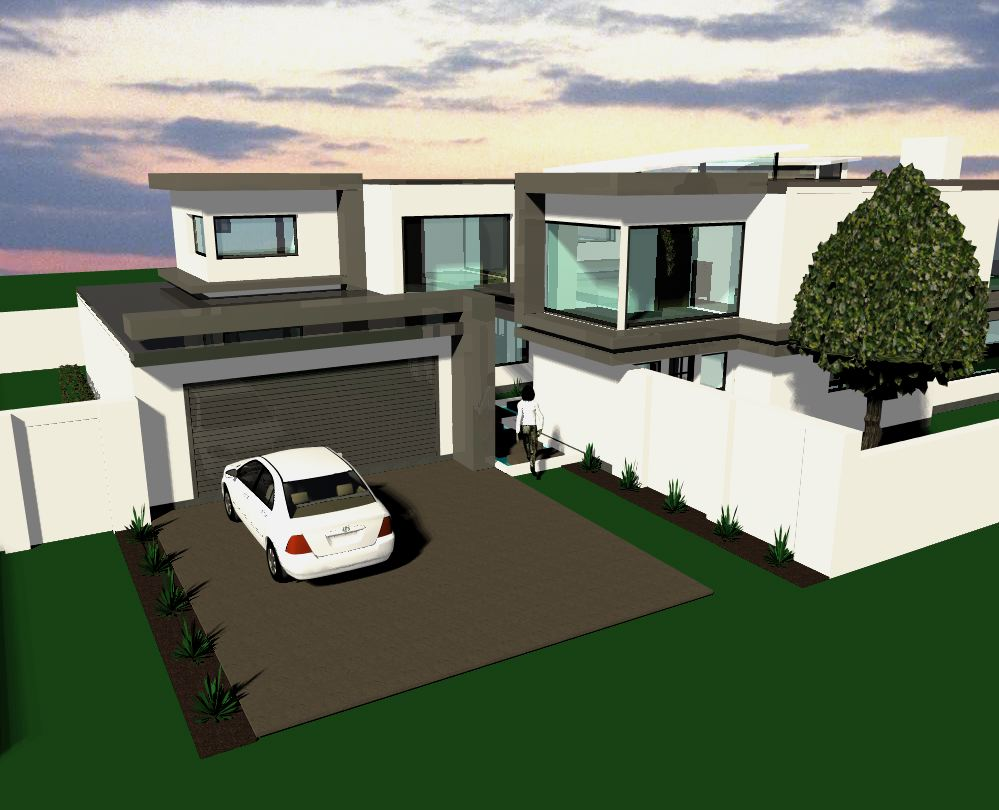 4 bedroom modern jdp948m sa houseplans for Sa house plans gallery