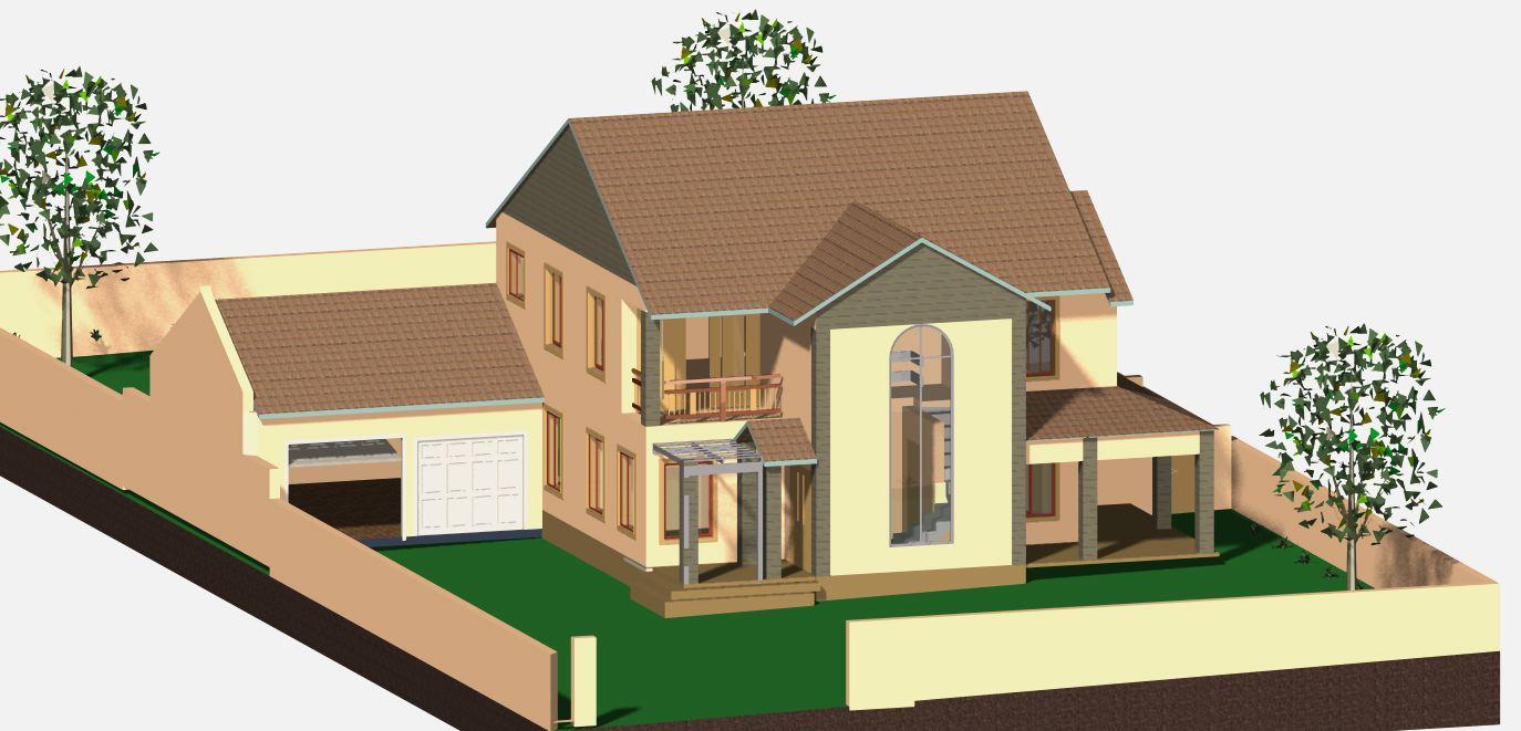 4 bedroom estate style jdp942ds sa houseplans for Sa house plans