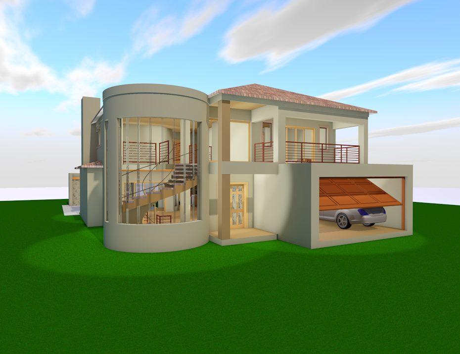 4 Bedroom Modern style - TDP750CH - SA Houseplans