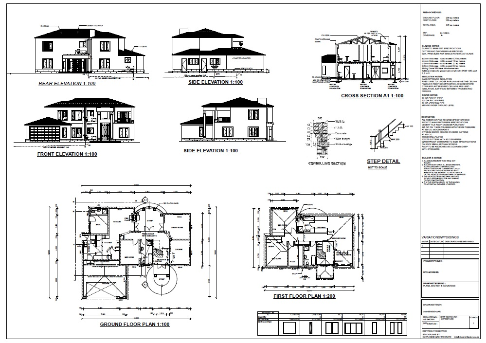 4 Bedroom Tuscan - jdp833tusc - SA Houseplans